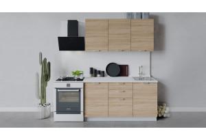 Кухонный гарнитур «Гранита» длиной 150 см (Белый/Дуб сонома)