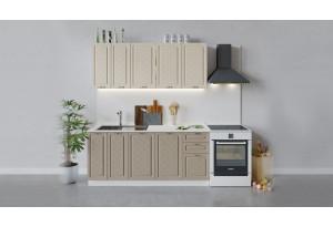 Кухонный гарнитур «Бьянка» длиной 180 см (Белый/Дуб ваниль/Дуб кофе)
