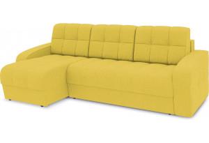 Диван угловой левый «Аспен Т1» (Neo 08 (рогожка) желтый)