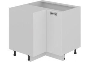 Шкаф напольный угловой с углом 90° (БЬЮТИ (Белая))