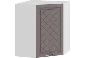 Шкаф навесной угловой «Бьянка» (Белый/Дуб серый)