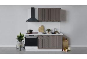 Кухонный гарнитур «Бьянка» длиной 180 см со шкафом НБ (Белый/Дуб серый)