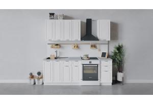 Кухонный гарнитур «Бьянка» длиной 160 см (Белый/Дуб белый)