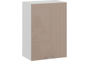 Шкаф навесной c одной дверью «Весна» (Белый/Кофе с молоком)