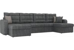 П-образный диван Ливерпуль Серый (Рогожка)