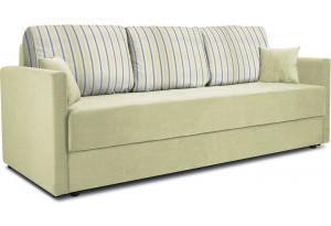 Диван «Поло» Classic 09 оливковый подушки Strip 05