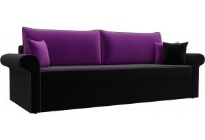 Диван прямой Милфорд черный/фиолетовый (Микровельвет)