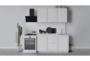 Кухонный гарнитур «Ольга» длиной 150 см (Белый/Белый)