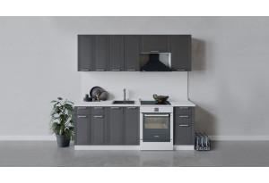 Кухонный гарнитур «Ольга» длиной 220 см (Белый/Графит)