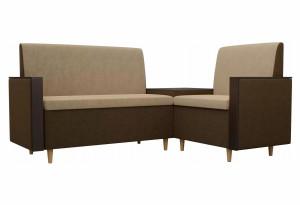 Кухонный угловой диван Модерн Бежевый (Микровельвет)