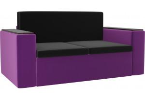 Детский диван Арси черный/фиолетовый (Микровельвет)