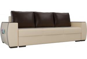 Прямой диван Брион Бежевый (Экокожа)