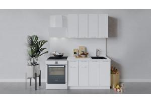 Кухонный гарнитур «Весна» длиной 120 см (Белый/Белый глянец)