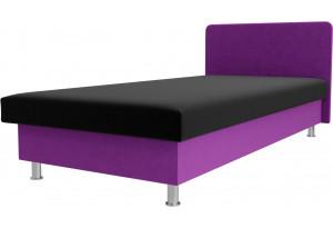 Кровать Мальта черный/фиолетовый (Микровельвет)