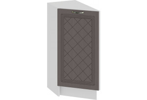 Шкаф напольный торцевой с одной дверью «Бьянка» (Белый/Дуб серый)