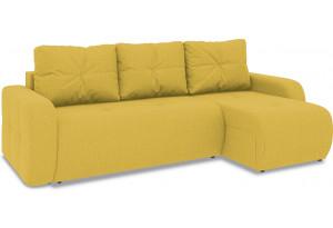 Диван угловой правый «Томас Т1» (Neo 08 (рогожка) желтый)