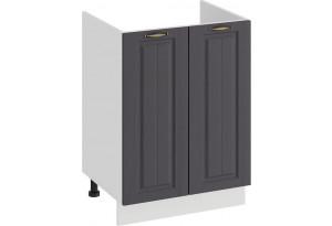 Шкаф напольный с двумя дверями (под накладную мойку) «Лина» (Белый/Графит)