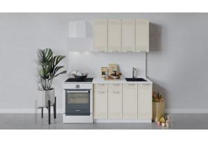 Кухонный гарнитур «Долорес» длиной 120 см (Белый/Крем)