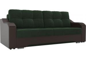 Прямой диван Браун зеленый/коричневый (Велюр/Экокожа)