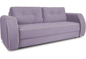 Диван «Хьюго» (Neo 09 (рогожка) фиолетовый кант Neo 02 (рогожка) бежевый)