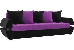 Диван прямой Атлант Т Фиолетовый/Черный (Микровельвет)