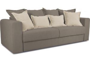 Диван «Раймонд» Neo 04 (рогожка) светло-коричневый, подушка Neo 02 (рогожка) бежевый