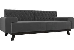 Прямой диван Мюнхен Люкс Серый (Велюр)