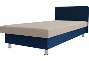 Кровать Мальта Бежевый/Голубой (Велюр)