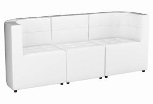 Модульный диван комплект Домино Белый (Экокожа)
