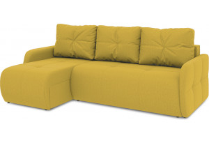Диван угловой левый «Томас Slim Т1» (Poseidon Curcuma (иск.замша) желтый)