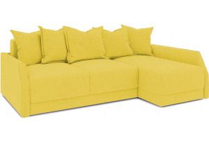 Диван угловой правый «Люксор Slim Т2» (Neo 08 (рогожка) желтый)