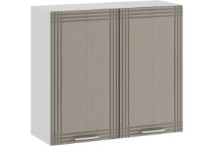 Шкаф навесной c двумя дверями «Ольга» (Белый/Кремовый)