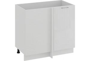 Шкаф напольный угловой «Весна» (Белый/Белый глянец)