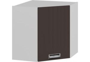 Шкаф навесной угловой с углом 45 (левый) (БЬЮТИ (Грэй))