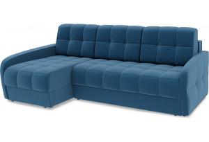 Диван угловой левый «Аспен Slim Т2» (Beauty 07 (велюр) синий)