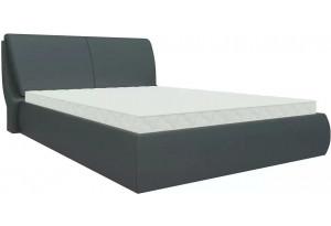 Интерьерная кровать Принцесса Черный (Экокожа)