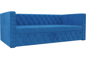 Детская кровать Таранто Голубой (Велюр)