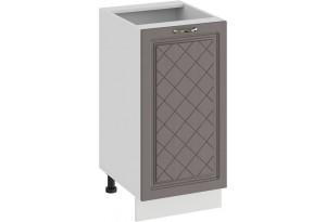 Шкаф напольный с одной дверью «Бьянка» (Белый/Дуб серый)