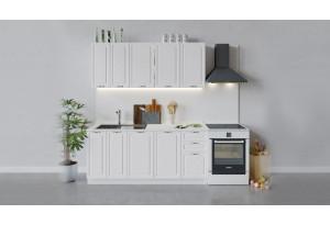 Кухонный гарнитур «Бьянка» длиной 180 см (Белый/Дуб белый)