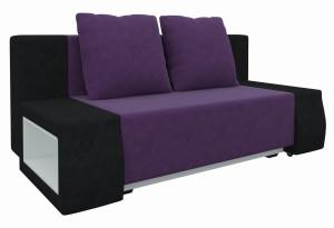 Диван прямой Шарль люкс Фиолетовый/Черный (Микровельвет)