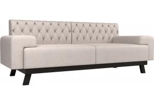 Прямой диван Мюнхен Люкс Бежевый (Рогожка)