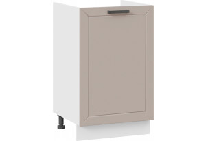 Шкаф напольный с одной дверью (под накладную мойку) «Лорас» (Белый/Холст латте)