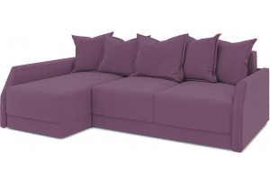 Диван угловой левый «Люксор Slim Т2» (Kolibri Violet (велюр) фиолетовый)