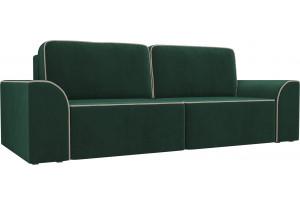 Прямой диван Вилсон Зеленый (Велюр)
