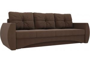 Прямой диван Сатурн Коричневый (Рогожка)