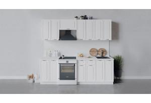 Кухонный гарнитур «Бьянка» длиной 240 см (Белый/Дуб белый)
