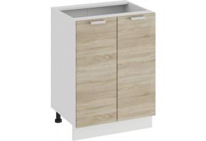 Шкаф напольный с двумя дверями «Гранита» (Белый/Дуб сонома)
