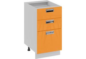 Шкаф напольный с 3-мя ящиками (БЬЮТИ (Оранж))