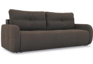 Диван «Томас Slim» Galaxy 04 (велюр) темно-коричневый
