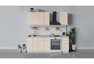 Кухонный гарнитур «Весна» длиной 160 см (Белый/Ваниль глянец)